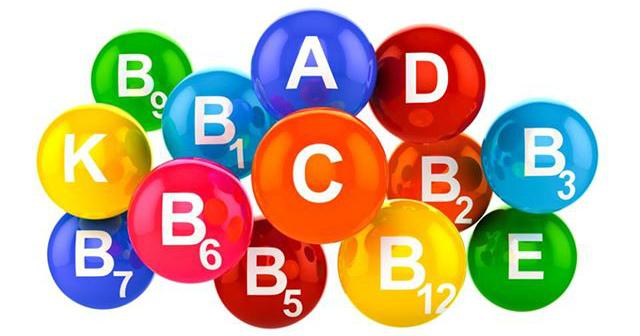 Прием витаминов группы В, С, А и Е