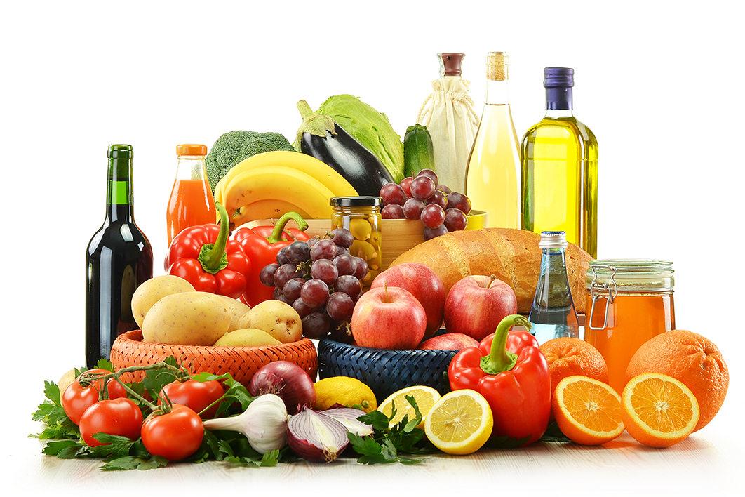 Рацион из овощей и фруктов