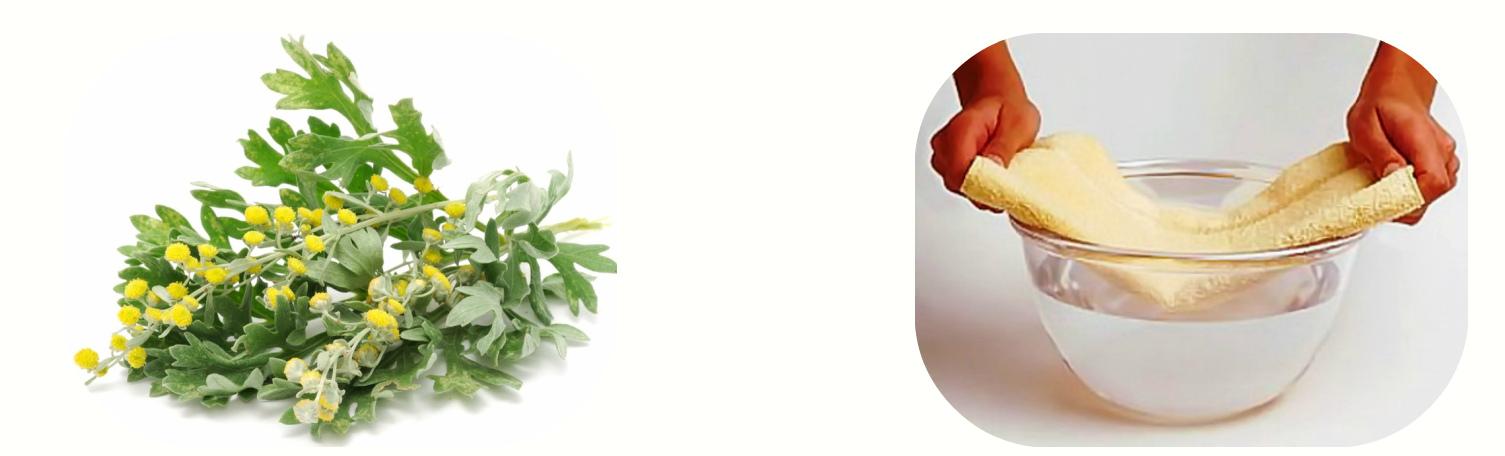 Компрессы из цветков полыни
