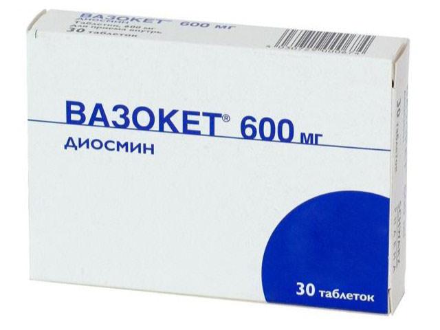 Вазокет фармакодинамика