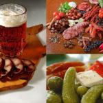Алкоголь, все виды копченостей, маринованные и острые продукты питания