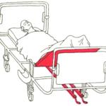 Приподнимание нижней части кровати